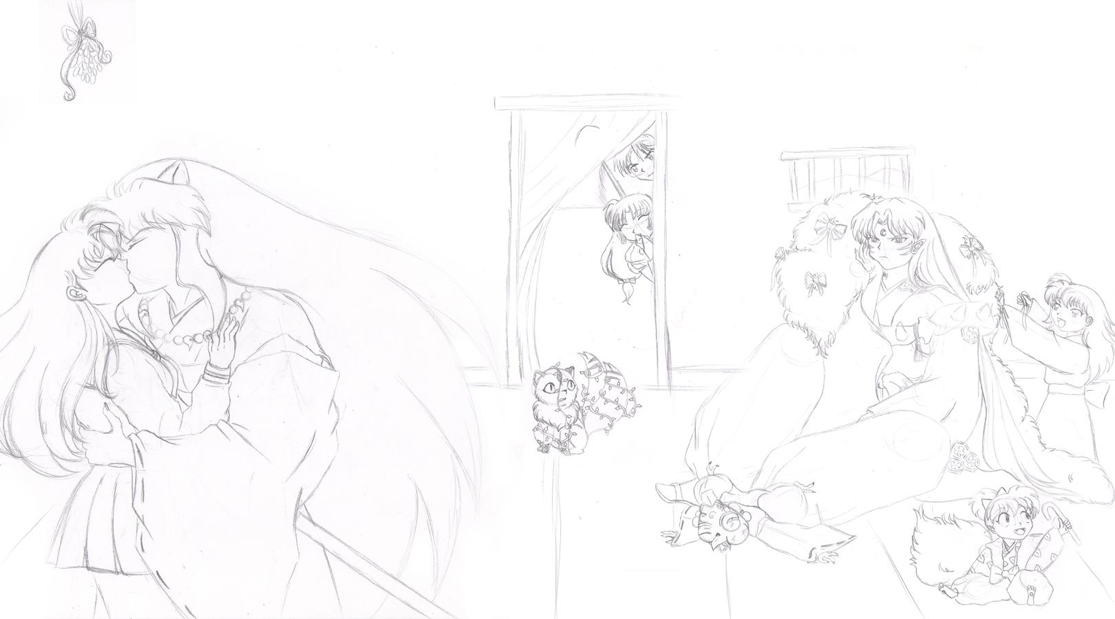 An Inuyasha Christmas sketch by SassyLilPanda on DeviantArt