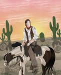 Hunter on Horseback by SassyLilPanda