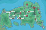 England Pokemon Region/Fly Map - HG/SS Styled