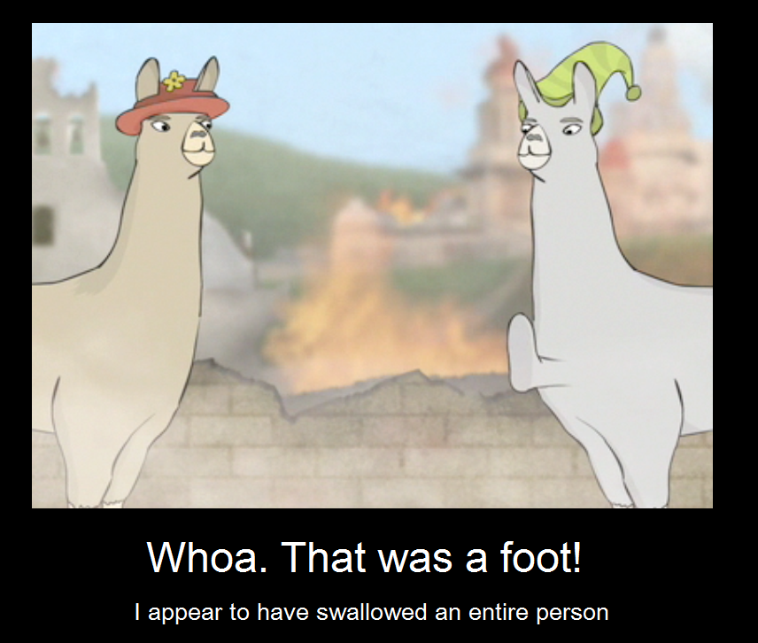 Llamas with Hats. Foot by IcySpice19