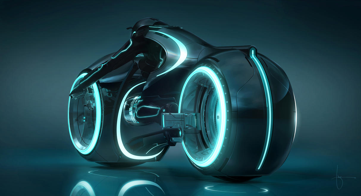 TRON Legacy Light Cycle Wallpaper by redrain85