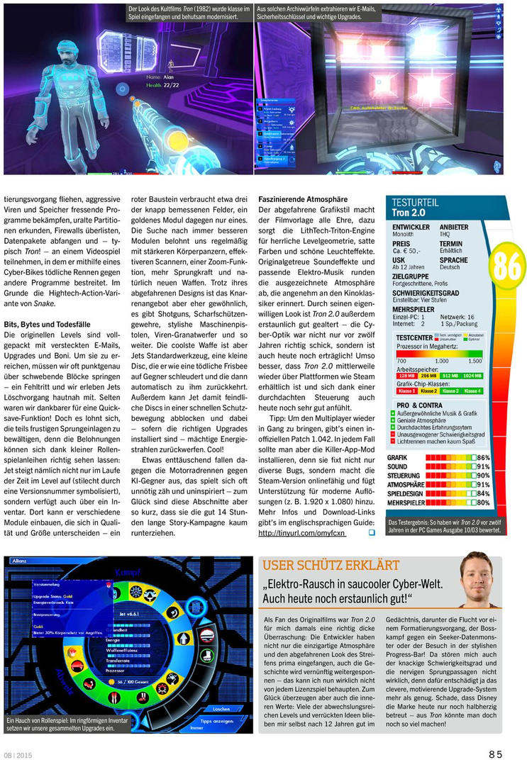 PC Games Germany magazine August 2015 article by redrain85