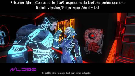 Prisoner Bin - Cutscene before 16:9 enhancement
