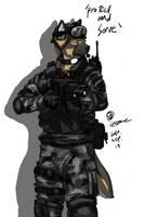 Sgt. Shepherd by GasMaskFox