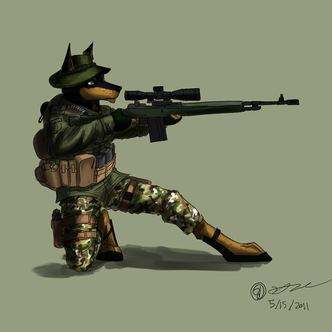 Doberman sniper by kta1540