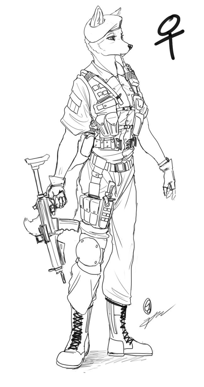 Female Soldier by kta1540