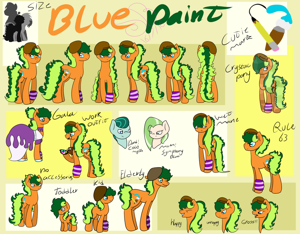 Blue Paint New ref by SubtleBrush