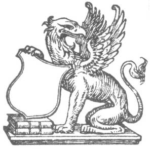 Griffon with crest, from around the 1890's