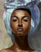 African lady by Dkundzinsh