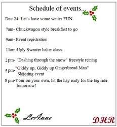 December 24th Events by appieloosa