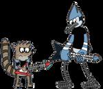 Mordecai + Rigby Shred by DestroX71689