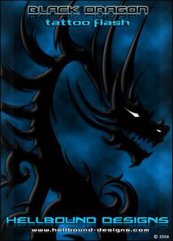 Black Dragon Tribal Tattoo