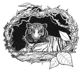 Tiger in vines 1996