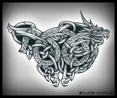 Celtic Dragon by H3LLB0uND