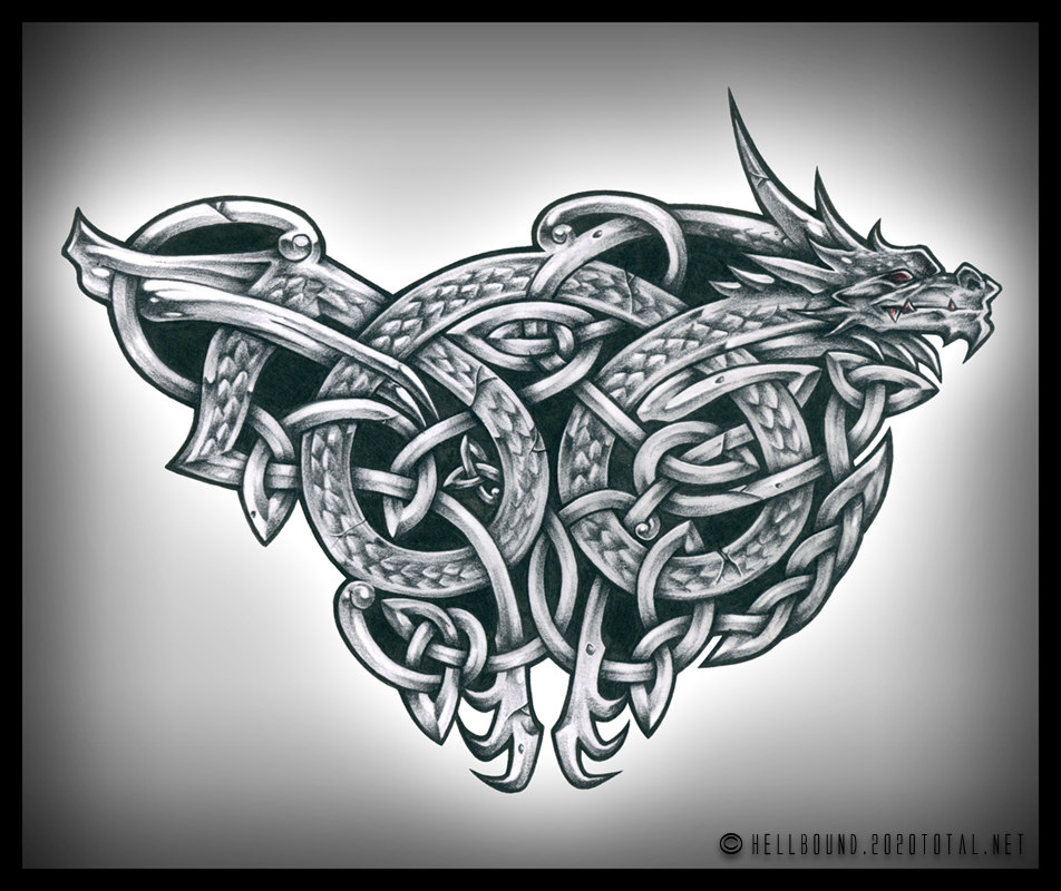 Celtic Dragon By H3LLB0uND On DeviantArt