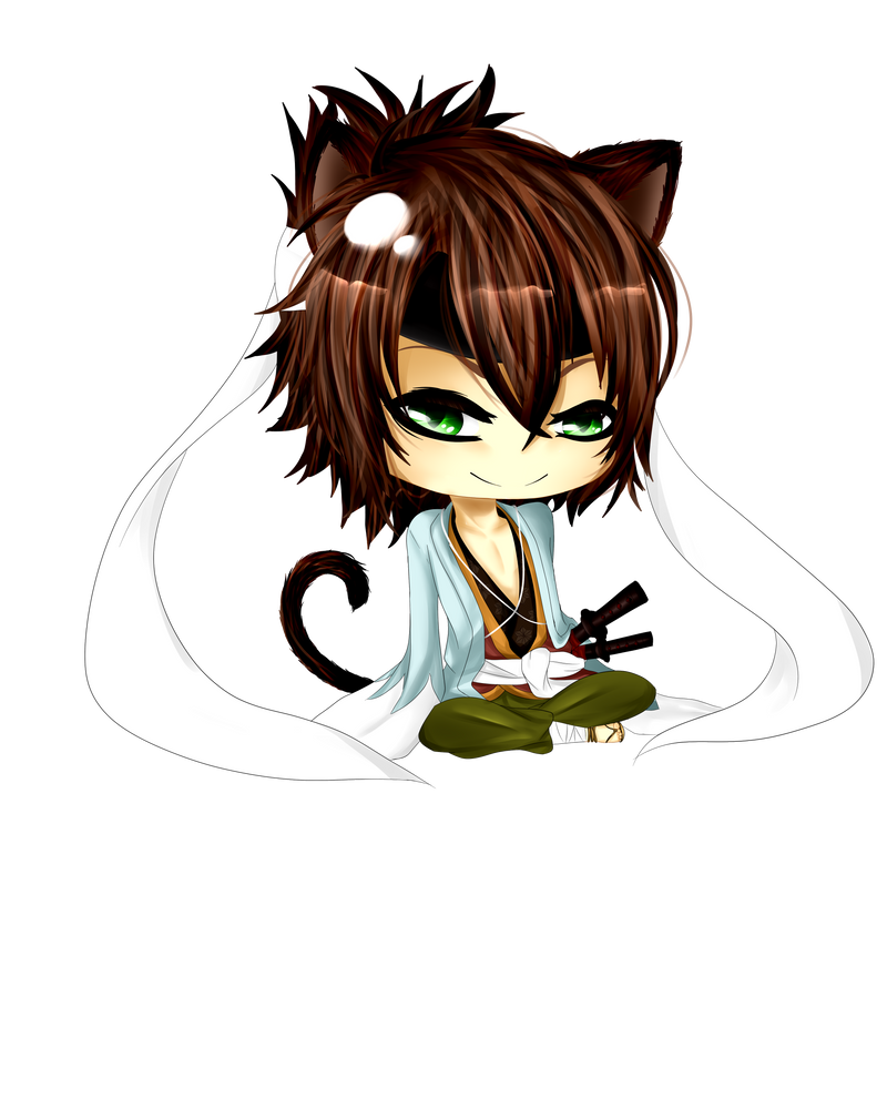 Commish: Okita Chibi by Krimchii
