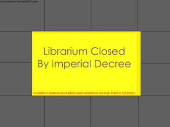 Library's Closed by psionicninja2000