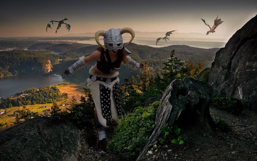 Skyrim - The Dragon Slayer by CrystalPanda