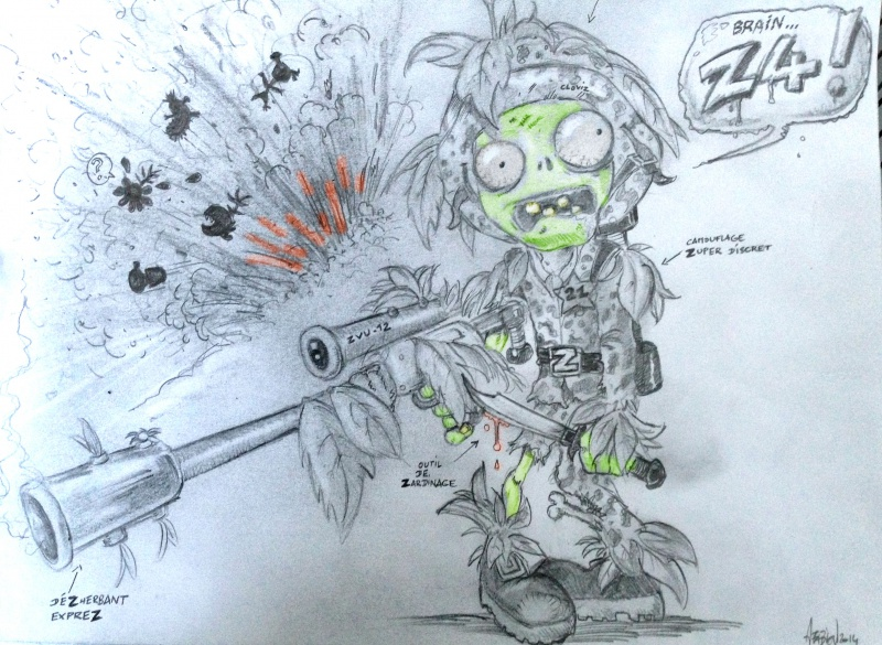 Coloring Pages For Plants Vs Zombies : Camo ranger fan art by plantsvszombies gw on deviantart
