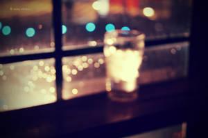 Bokeh glass.