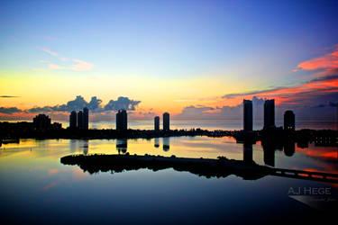 Miami Skyline II by AJHege
