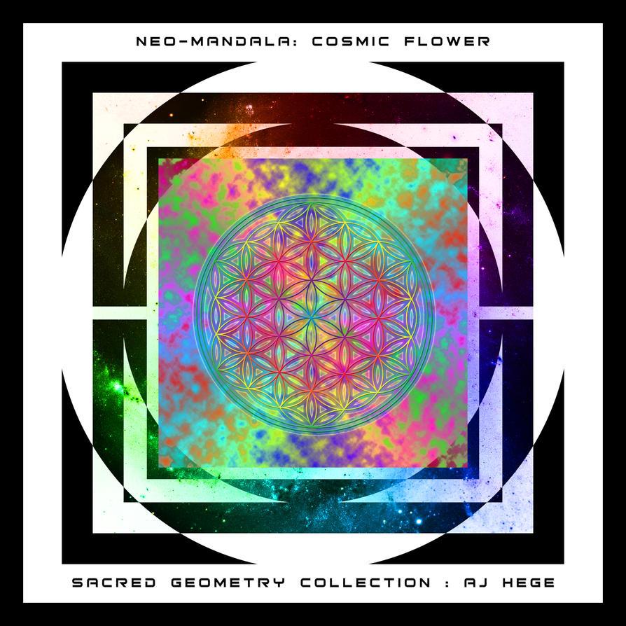 Neo Mandala: Cosmic Flower by AJHege