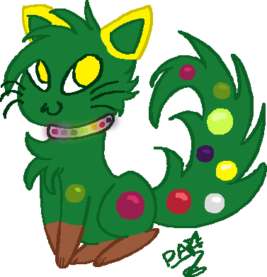 Christmas Tree Kitten by Kittylover9399