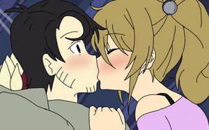 A kiss from a fan