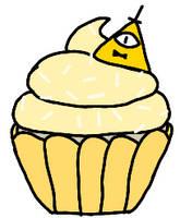 Bill Cipher Cupcake
