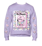 Mockup of Lavender No Thanks :| Sweater