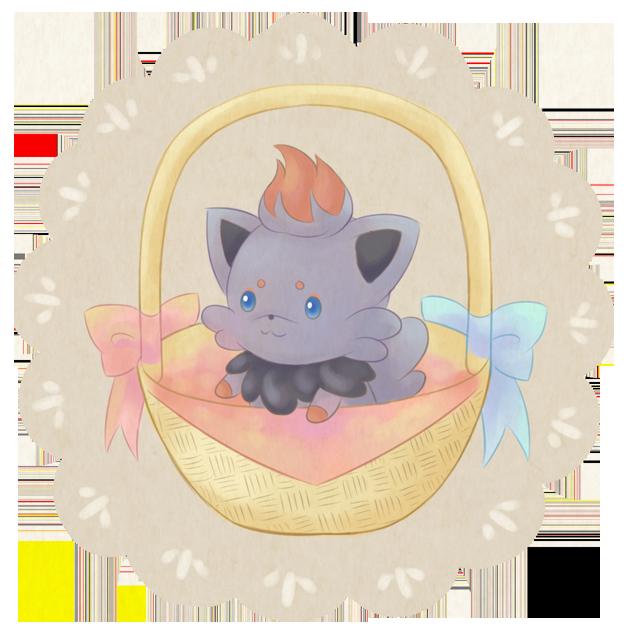 Renders Pokemons 03 Zorua_in_basket_by_oi_m-d3isw1z