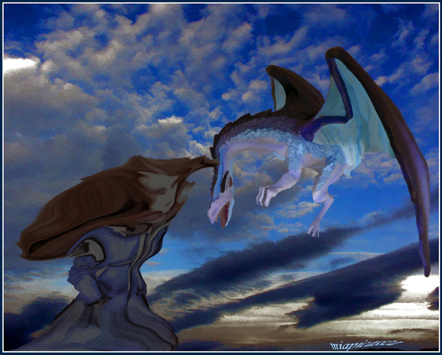 wings of  dragons.. for Lois.. by miapicassa