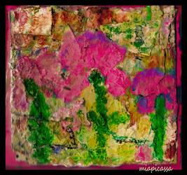 April 1st Acryllic Flower Collage