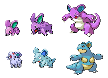 Spikeless Nido Family by PkmnOriginsProject