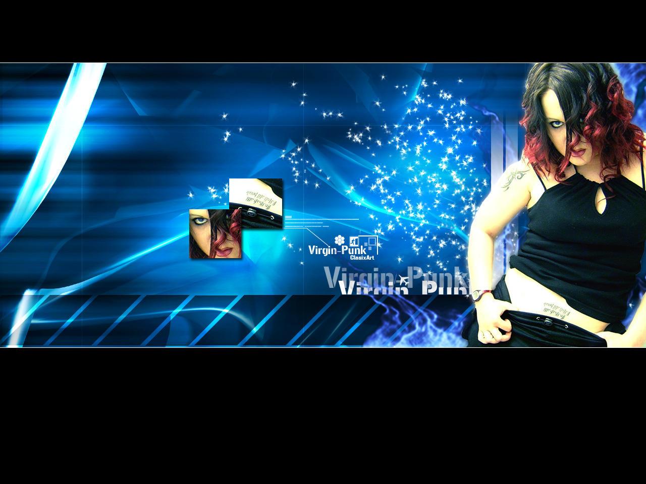 Virgin-Punk In Blue by clasixart