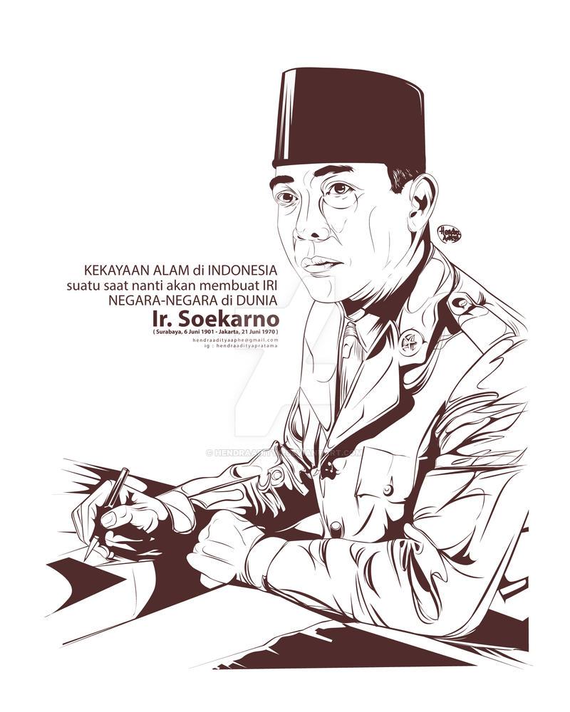 Top Ten Siluet Soekarno Vector