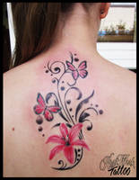 Florarl and butterflys by CAMOSartTATTOO