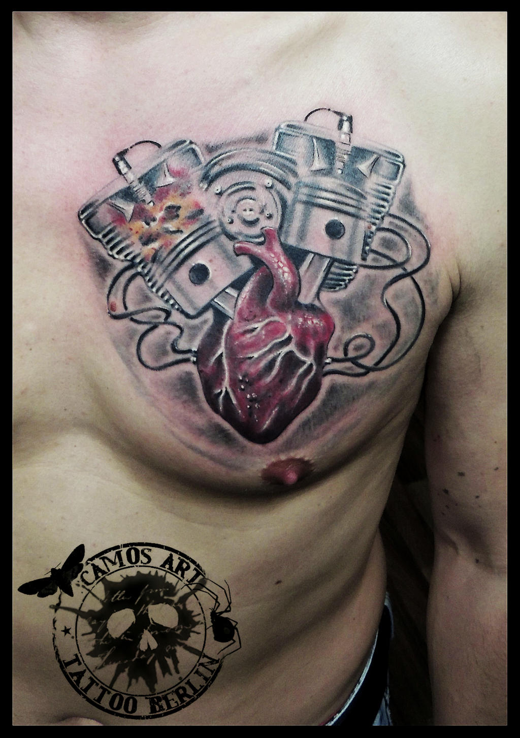 Motor heart by CAMOSartTATTOO on DeviantArt