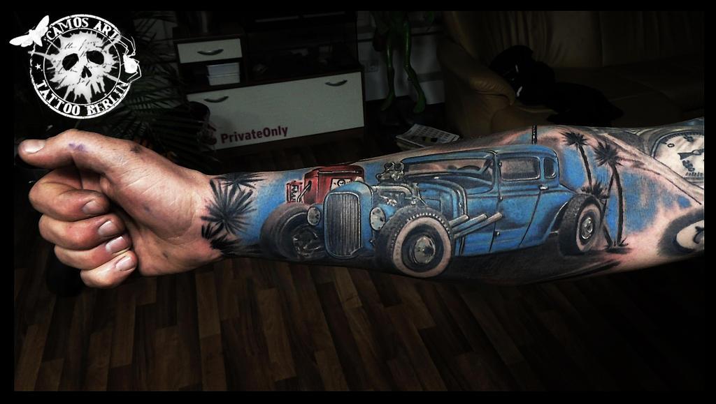 Hot rod by camosarttattoo on deviantart for Hot rod tattoos
