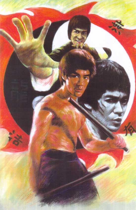Bruce Lee olor Pastel 2 by monkeydawang
