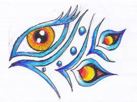 Another tribalish eye tattoo by Ashlo4