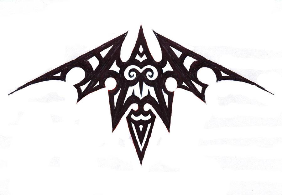 tribal bat and or owl by ashlo4 on deviantart. Black Bedroom Furniture Sets. Home Design Ideas