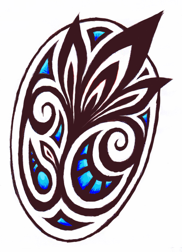 tribal badge shield by ashlo4 on deviantart. Black Bedroom Furniture Sets. Home Design Ideas
