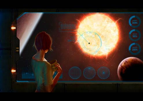 Galaxy clicker artwork