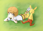 Tomoki and Neemon [Colour][ArtTrade]