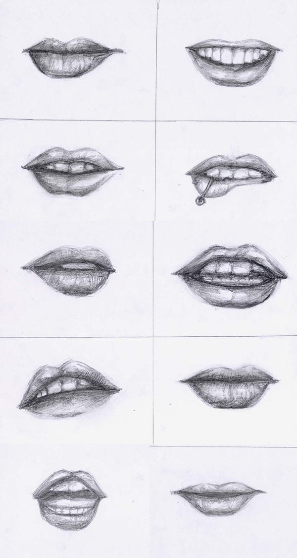 Lips - Reference by xoxtazxox on DeviantArt Pencil Drawings Of Lips Smiling