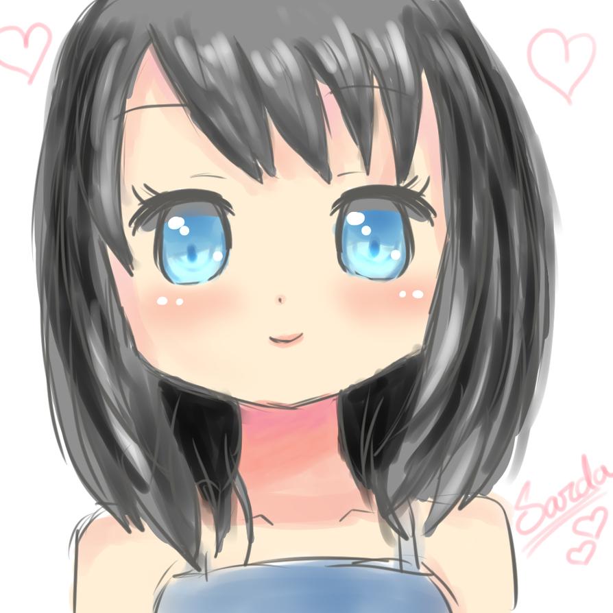 Random Anime Girl Short Hair By Sadiajalalsarda On Deviantart