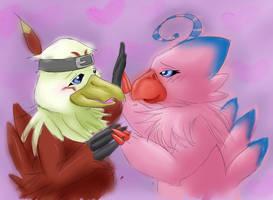 Lovebirds by Skittledeedoo