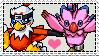 Hawkmon x Biyomon stamp by Skittledeedoo