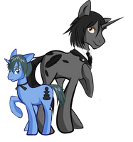 Ponyshitsuji: Sebastian and Ciel by Skittledeedoo